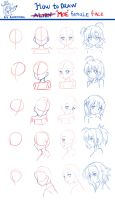 How to draw moe face~ by Kazenokaze