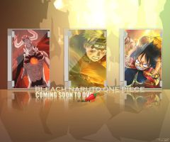 Bleach Naruto One Piece by iFreakART