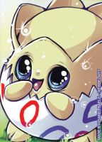 Togepi aceo card by tikopets