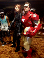 Black Widow and Iron Man by Akatsuki-Leader2012