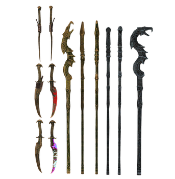 Dragon Priests weapons mmd xps by Tokami-Fuko