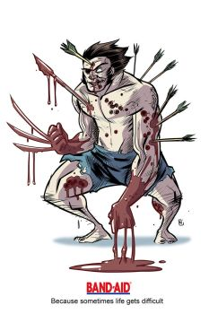 Wolverine for Band Aids by nandop