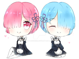 Ram and Rem by Nyanndere