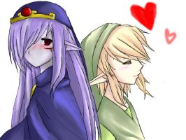 Link and Vaati by blackorchid2007
