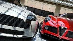 Alfa Romeo 8C and Aston Martin Vantage by Kadamx