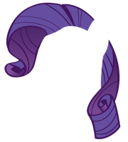 Rarity Hair Vector by TheGirlNamedSig