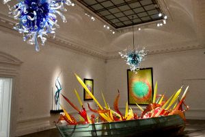 Chihuli Boat In A Painted Halcyon Gallery Interior by aegiandyad