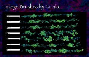 Custom Foliage brushes by blitherjust