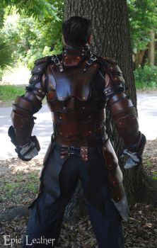 SCA Heavy Combat Leather Armor Kit - Back by Epic-Leather