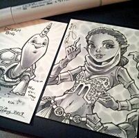 NYCC Sketchcards 1 by KelleeArt