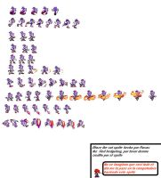 Blaze the cat sprites by roxastheredhedgehog