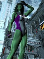 She Hulk Larger than Life by sturkwurk