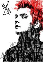 Gerard Way Red Typo by Mogeeg