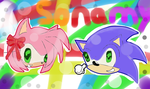 Sonamy by icythehedgehog12