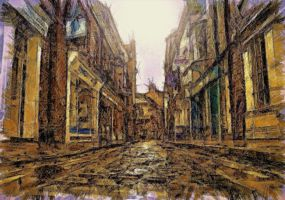 Cobblestone Street by montag451