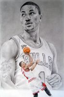 Derrick Rose by CHaverlandArt
