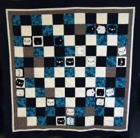 Monokuro Boo Quilt by ShoriAmeshiko