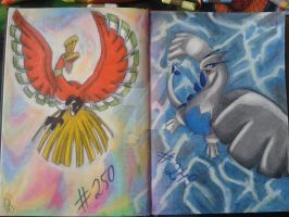 Ho-oh and Lugia Full by KurotsukiRenji