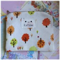 Autumn Trees Zip Pouch by Keito-San