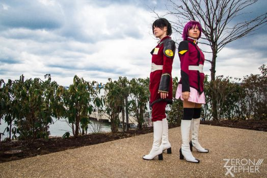 Shinn and Lunamaria - Gundam Seed Destiny by ZeronXepher