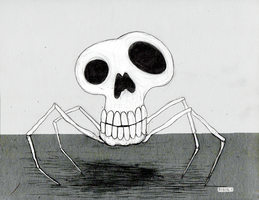 Skull Spider by rubbe