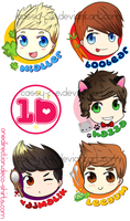 One Direction Cute Buttons by Cassy-F-E