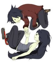 Marshall Lee and Marceline by Winter-Wisp
