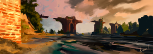 The Witcher 3 background by Nenini