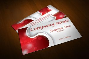 Free Modern Red Business Card Design by BorceMarkoski