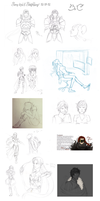 Some Kind of December Sketchdump by BeeInDreaming