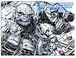 FANTASTIC FOUR INKS OVER KEOWN by darquem