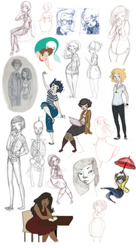 Sketches and old doodles by astralkid