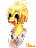 FNAF doodle Chica by KieCookie
