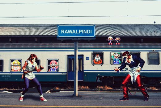 SNK Fight with Nes train by farhan169
