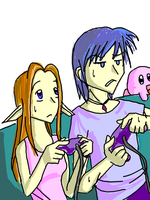 Marth x Zelda Playing Games by Shydrake