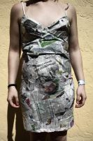 Newspaper Gown by StaticBurnsMe