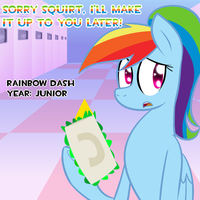 High School Rainbow Dash: Amazing Sandwich Grabber by Penguin-Potential