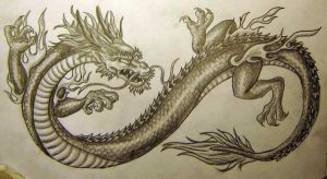 Chinese Dragon Tattoo Design by vampuricreason