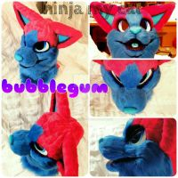 finished fursuit head  by ninja-my-cat