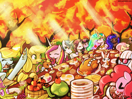 The Fall Festival Dinner by luminaura