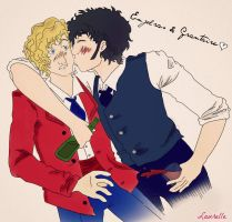 Enjolras and Grantaire by Elle95Laura