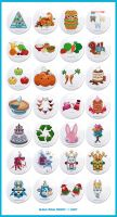 Kawaii Button Bonanza by KawaiiUniverseStudio