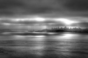 San Francisco and Bay Bridge by brianhallpictures