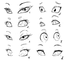 Practice - eyes by DarkestMbongo