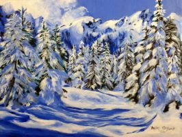 Winter Forest by ArtistTaylorAnn