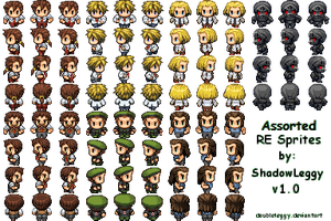 RE Side Character Sprites v1.0 by DoubleLeggy