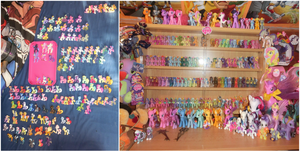 My collection of pony figurines by SoulEevee99