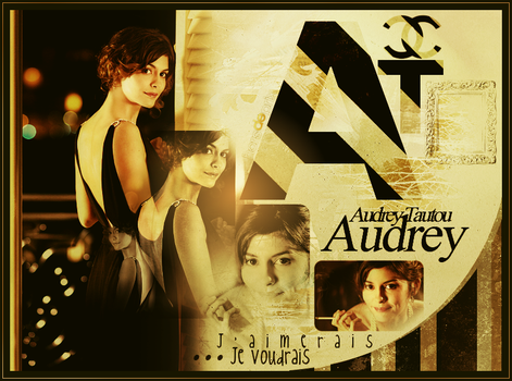 A, is for : Audrey Tautou by Cl0ud-Nine