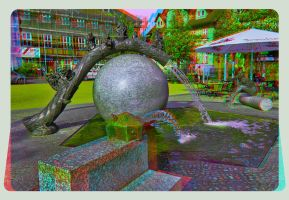 Affluent fountain at the Nicolai Square 3D ::: HDR by zour