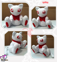 Snow White Mew :For Sale: by Ami-Plushies